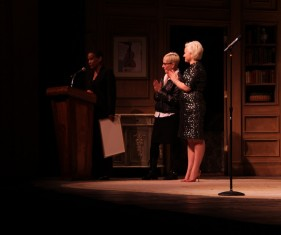 Marcia Milgrom Dodge and Sarah Galli receive Born for Broadway's proclamation