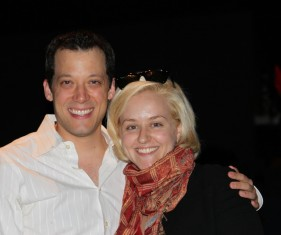 Sarah Galli and John Tartaglia