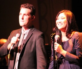 Chris Pinnella and Jenna Ushkowitz
