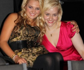 Ali Stroker and Sarah Galli